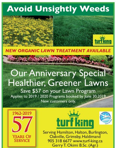 Turf King 57th Anniversary Savings